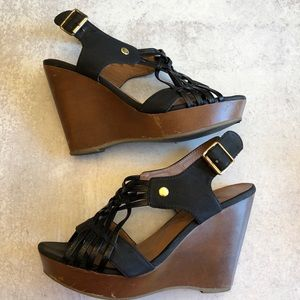 Madden girl faux leather scrappy wedges. 7…